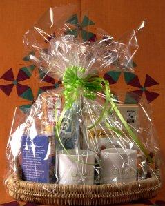 A wrapped basket