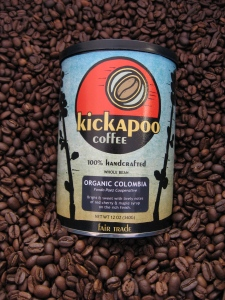 organic Columbian from Kickapoo Coffee