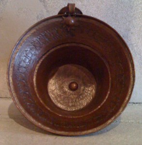 Large copper measuring Bowl from Nepal