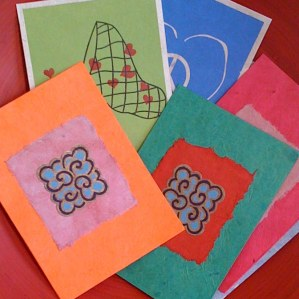 Hand made cards from Bhaktapur