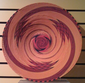 Zulu Telephone Wire Basket by Ben Makhanya, Master Weaver